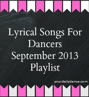 Lyrical Songs Playlist:  September 2013