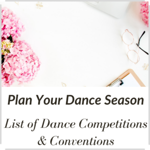 computer, flowers on desk to plan dance season