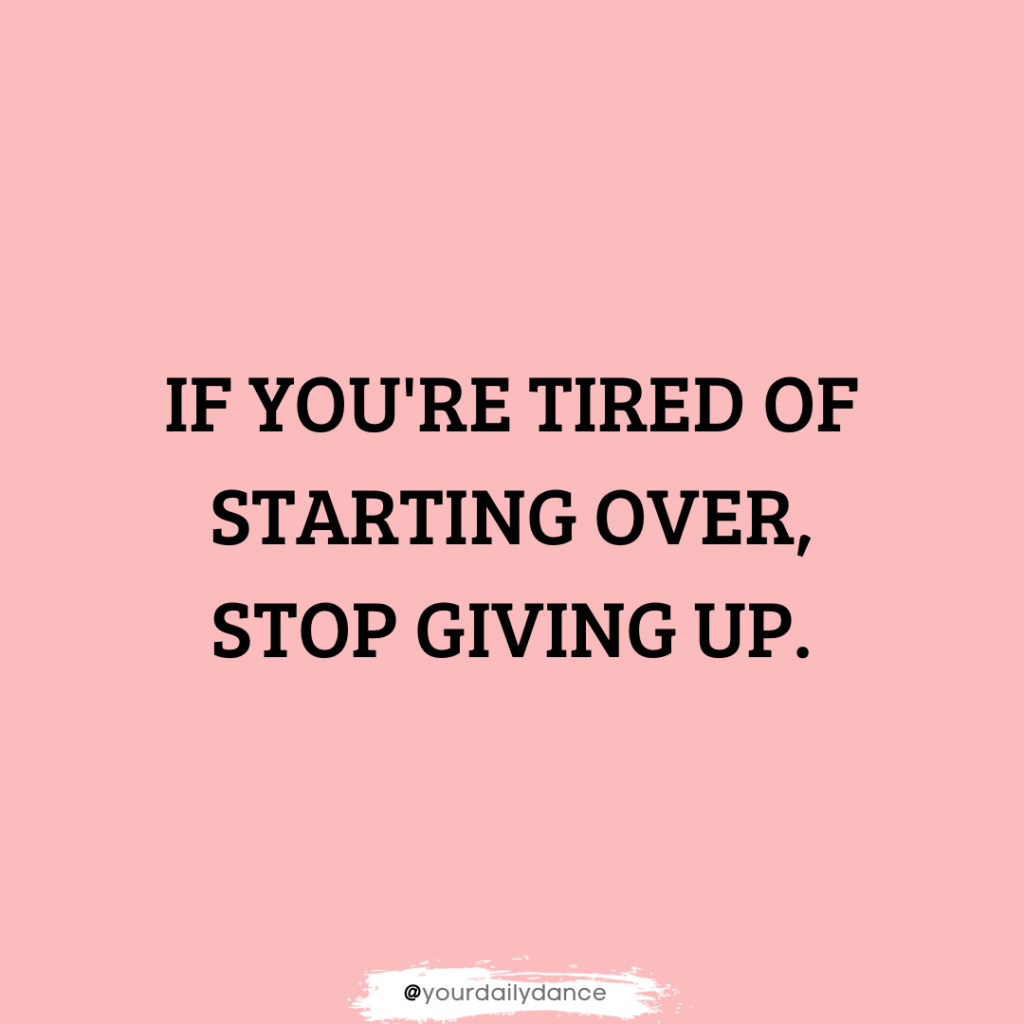 dance quotes about not giving up