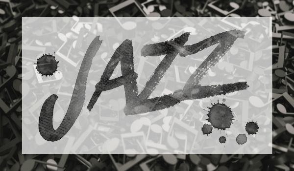 the word jazz on music notes